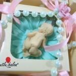 bebek sabun kutulu su yeşili pembe